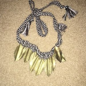 Free people leaf necklace